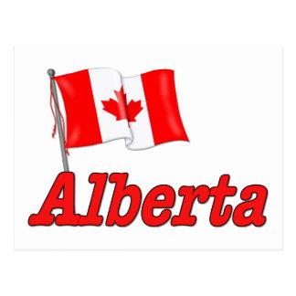 Drapeau du Canada - Alberta Carte Postale