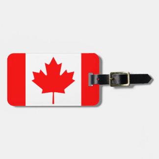 Drapeau du Canada Étiquette À Bagage