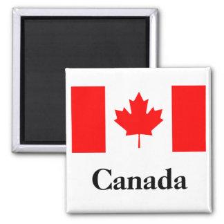 Drapeau du Canada Magnet Carré