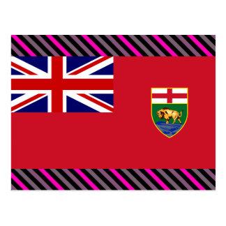 Drapeau du Canada Manitoba Carte Postale