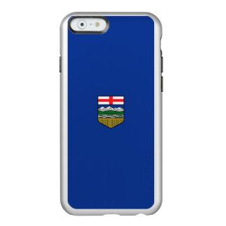 Drapeau du coque iphone argenté d'Alberta