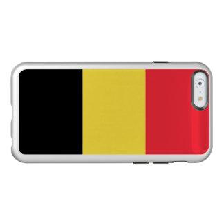 Drapeau du coque iphone argenté de la Belgique