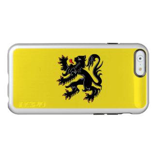 Drapeau du coque iphone argenté de la Flandre