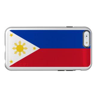 Drapeau du coque iphone argenté de Philippines