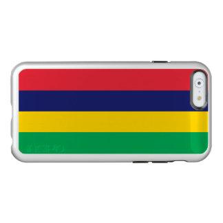 Drapeau du coque iphone argenté des Îles Maurice