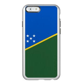 Drapeau du coque iphone argenté d'îles Salomon