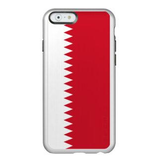 Drapeau du coque iphone argenté du Bahrain
