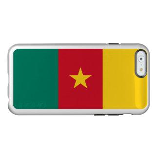 Drapeau du coque iphone argenté du Cameroun