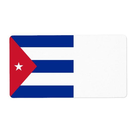 Drapeau du Cuba Étiquette D'expédition