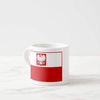 Drapeau du manteau de la Pologne des tasses de caf