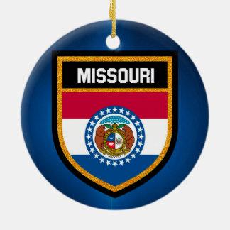 Drapeau du Missouri Ornement Rond En Céramique