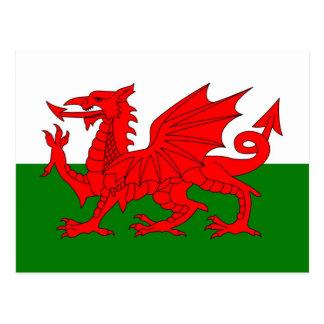 Drapeau du Pays de Galles Carte Postale