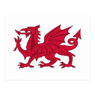 Drapeau rouge dragon pays galles cartes postales originales - Logo pays de galles ...
