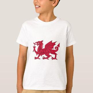 Drapeau du Pays de Galles - le dragon rouge - T-shirt