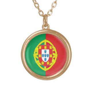 Drapeau du Portugal de collier de finition d'or