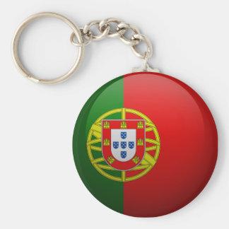 Drapeau du Portugal Porte-clé Rond