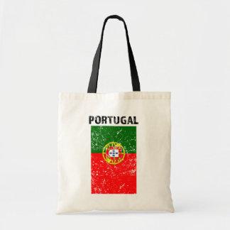 Drapeau du Portugal - sac fourre-tout affligé
