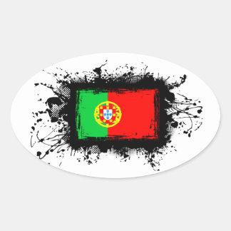 Drapeau du Portugal Sticker Ovale