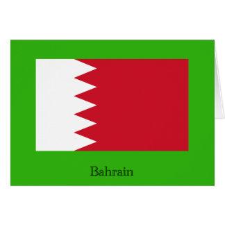 Drapeau du royaume du Bahrain Carte