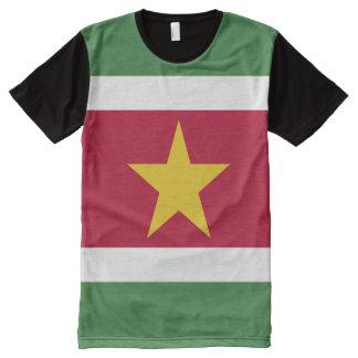 Drapeau du Surinam T-shirt Tout Imprimé