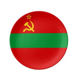 Drapeau du Transnistrie Assiette En Porcelaine