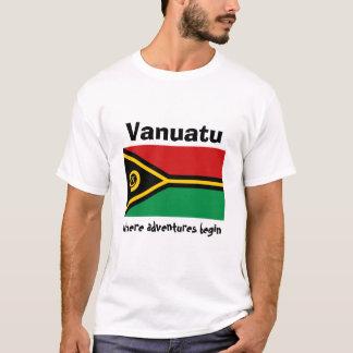 Drapeau du Vanuatu + Carte + T-shirt des textes