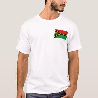 Drapeau du Vanuatu et T-shirt de carte