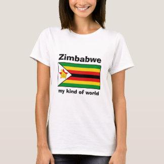 Drapeau du Zimbabwe + Carte + T-shirt des textes