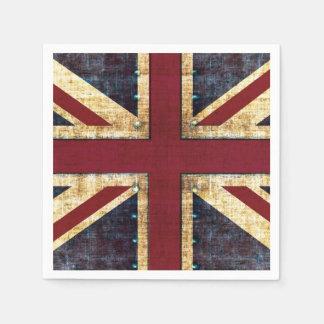 Drapeau d'Union Jack Royaume-Uni Serviettes Jetables