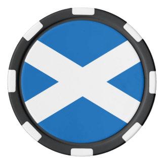 Drapeau écossais de croix de l'Ecosse St Andrew Jetons De Poker