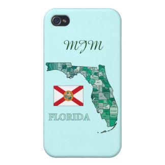 Drapeau et carte de la Floride Étui iPhone 4