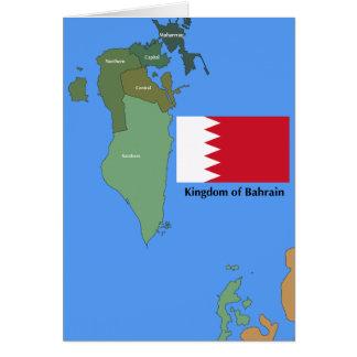 Drapeau et carte du royaume du Bahrain