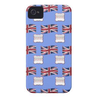 Drapeau et devise du Royaume-Uni Coques iPhone 4 Case-Mate