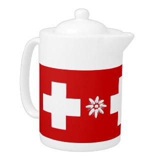 Drapeau et edelweiss suisses