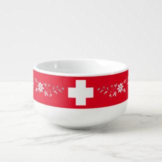 Drapeau et edelweiss suisses mug à soupe