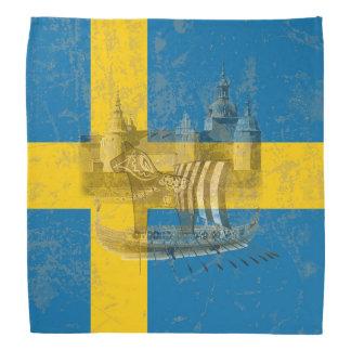 Drapeau et symboles de la Suède ID159 Bandana