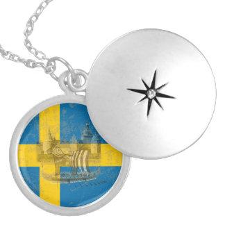 Drapeau et symboles de la Suède ID159 Médaillon Avec Fermoir