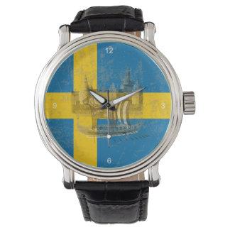 Drapeau et symboles de la Suède ID159 Montre