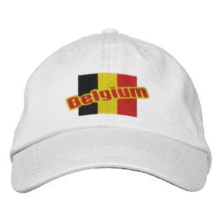 Drapeau et texte patriotiques de la Belgique Casquette Brodée