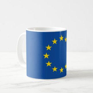 Drapeau européen abstrait, poly tasse d'art de