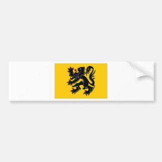 Drapeau flamand de région de la Belgique Adhésifs Pour Voiture
