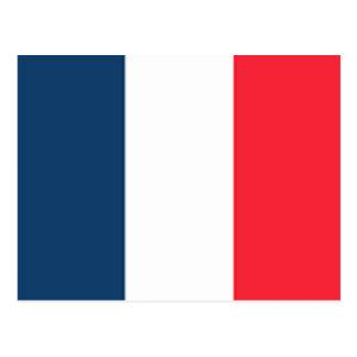 Drapeau français carte postale
