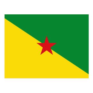 Drapeau GF de Guyane Carte Postale