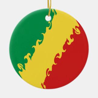 Drapeau Gnarly de Congo-Brazzaville Décorations De Noël