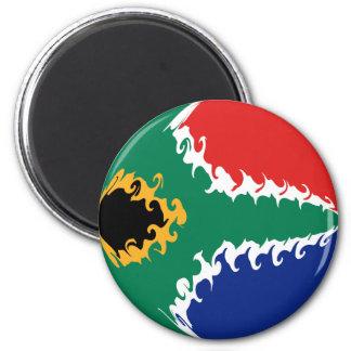 Drapeau Gnarly de l Afrique du Sud Aimants