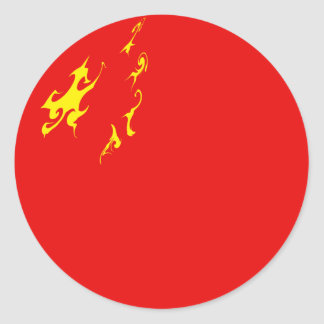 Drapeau Gnarly de la Chine Adhésifs Ronds