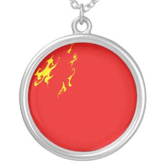 Drapeau Gnarly de la Chine Pendentif Rond