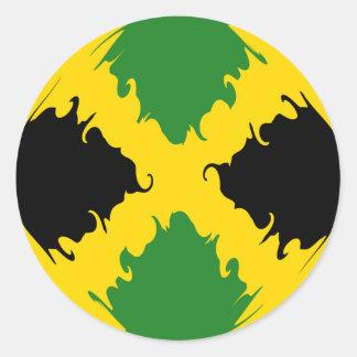 Drapeau Gnarly de la Jamaïque Autocollants