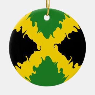 Drapeau Gnarly de la Jamaïque Décorations Pour Sapins De Noël