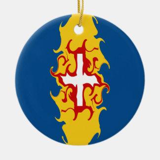Drapeau Gnarly de la Madère Décorations De Noël